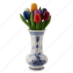 Windmill Delft Blue - Vase 15cm