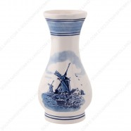 Windmill Delft Blue - Vase 16cm