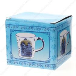 Canal Houses 3D - Mug - Delft Blue