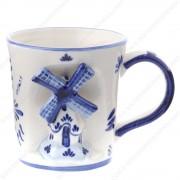 Windmill 3D - Mug - Delft Blue