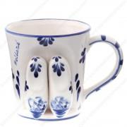 Clogs 3D - Mug - Delft Blue