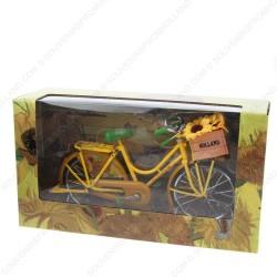 Bicycle Yellow Sunflowers - Miniature 23 x 13 cm