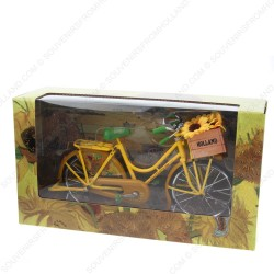 Bicycle Yellow van Gogh Sunflowers - Miniature 23 x 13 cm