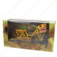 Miniatuur Fiets met van Gogh Zonnebloemen - Geel - 23 x 13 cm