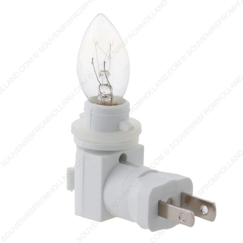 USA stekker + lamp voor Nachtlampjes