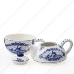 Tea-for-one Theepot - Molen Delfts Blauw