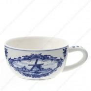 Tea-for-one Teapot - Windmill Delft Blue