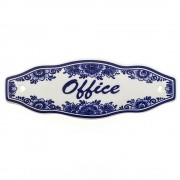 Office Door Sign - Delft Blue