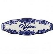 Office Door Sign - Delft Blue