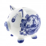 Piggy Bank Delft Blue -...
