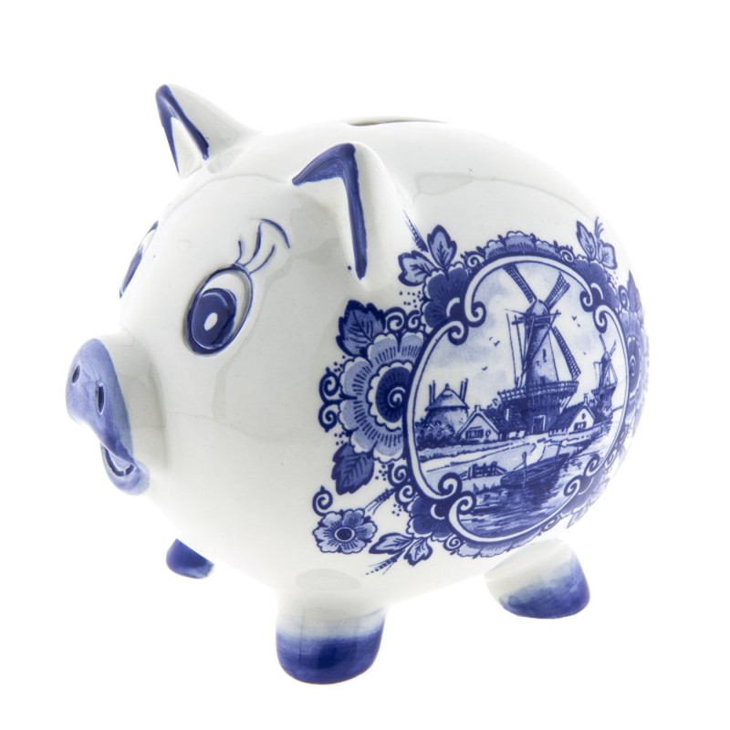 Piggy Bank Delft Blue - Money box