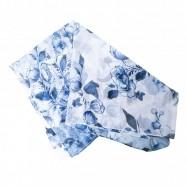 Delft Blue transparent Scarf - Flowers