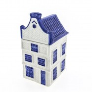 Canal house Storage Jar - Delft Blue - Bell Gable