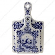 Cheese Board Windmill Large - Delft Blue