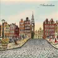 Colored Ceramics Amsterdam Canalhouses - Tile 15x15 cm - Color