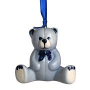 Kerstfiguren hangend Knuffelbeer - Kersthanger Delfts Blauw