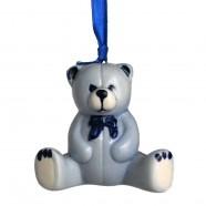 Knuffelbeer - Kersthanger Delfts Blauw