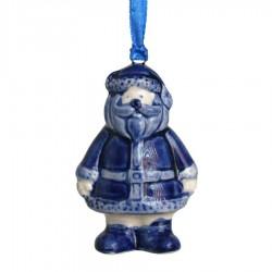 Kerstfiguren hangend Kerstman - Kersthanger Delfts Blauw