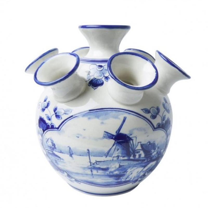 Windmill Delft Blue - Tulip Vase 15,5cm