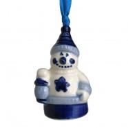 Hanging Figures  Snowman - X-mas Figurine Delft Blue