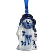 Kerstfiguren hangend Herder - Kersthanger Delfts Blauw