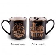 Gouden Zwarte Camp Mug Holland 10cm
