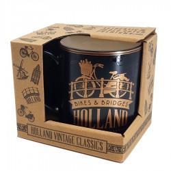 Golden Black Camp Mug Holland 10cm