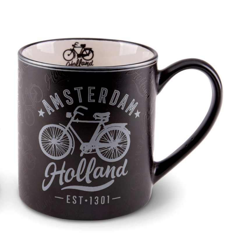 Zilveren Zwarte Camp Mug Amsterdam 10cm