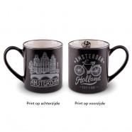 Silver Black Camp Mug Amsterdam10cm