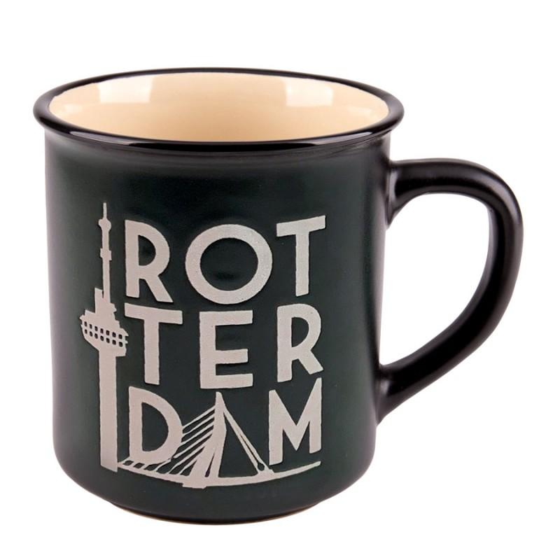 Black Camp Mug Rotterdam 10cm