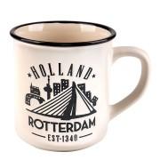 Witte Camp Mug Rotterdam 10cm