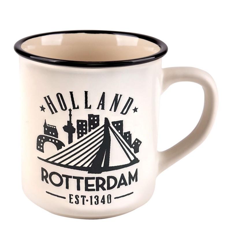 White Camp Mug Rotterdam 10cm