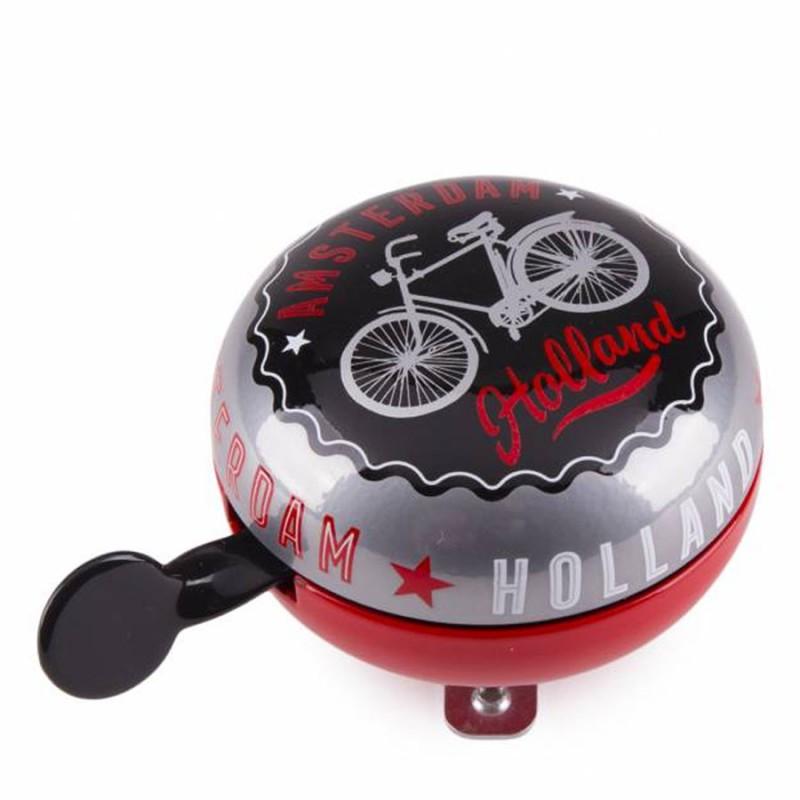 Bicycle Bell Red-Black Amsterdam Bike 8cm