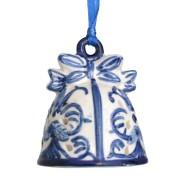 Kerstfiguren hangend Kerstbel - Kersthanger Delfts Blauw