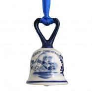 Bel met Hartje - Kersthanger Delfts Blauw