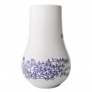 Flower Vase with Bicycle design - The Blue Bicycle no.1
