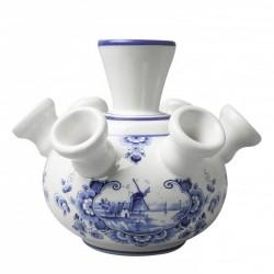 Tulpenvaas Molenlandschap - 12cm Delfts Blauw