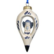 Balls and Drip Balls Dripball with Angel - X-mas Ornament Delft Blue