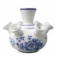 Tulpenvaas Bloemen - 12cm Delfts Blauw