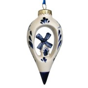 Balls and Drip Balls Dripball with Windmill - X-mas Ornament Delft Blue