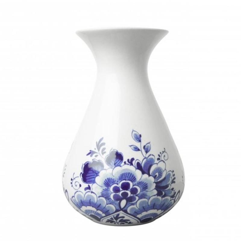 Buikvaas Bloemen - 14cm Delfts Blauw