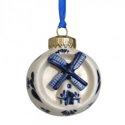 Ball with Windmill - X-mas Ornament Delft Blue