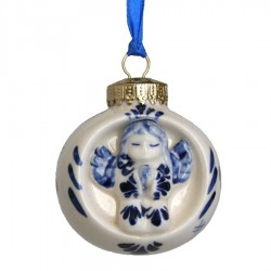 Ball with Angel - X-mas Ornament Delft Blue