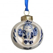 Balls and Drip Balls Ball with Angel - X-mas Ornament Delft Blue