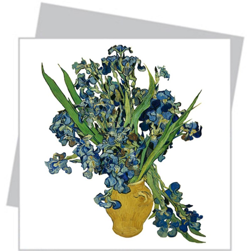 Flat Flower Small - Van Gogh Irisses