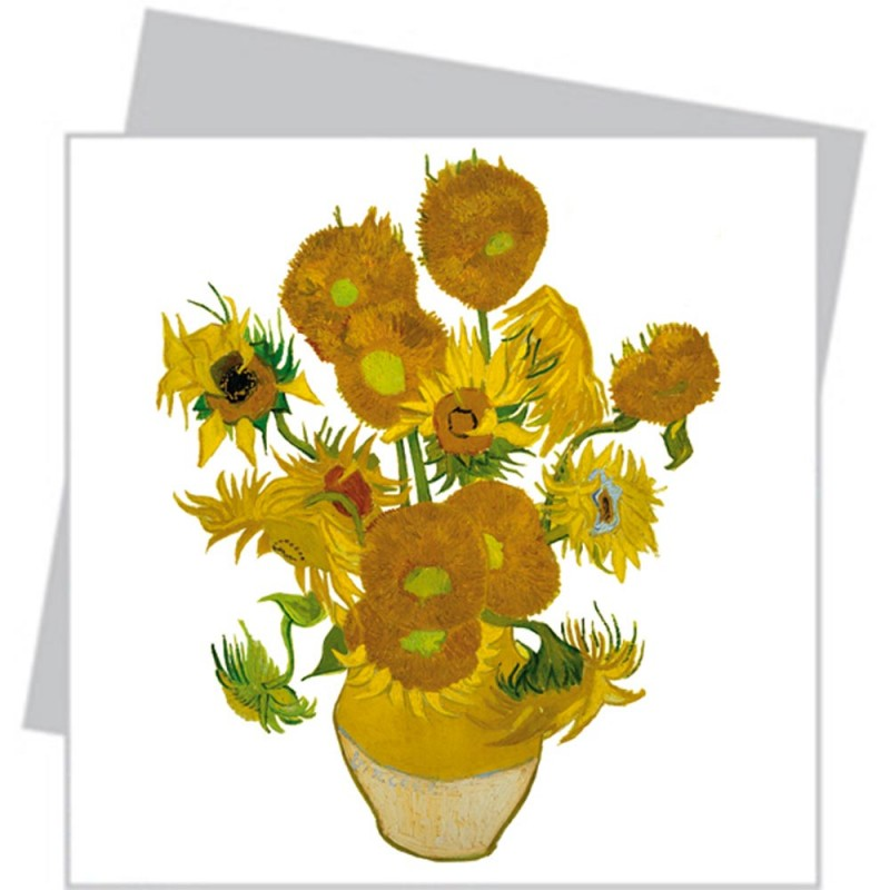 copy of Flat Flower Small - Van Gogh Sunflowers