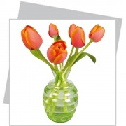 Flat Flower Klein - Oranje...