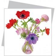 Flat Flower klein - gemengde Anemone