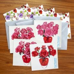 Flat Flowers klein - Rode Rozen