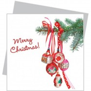Flat Flowers small - Red Christmas Ornaments